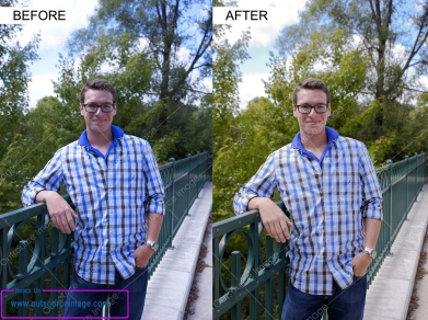 Digital image enhancement service provider with high-end