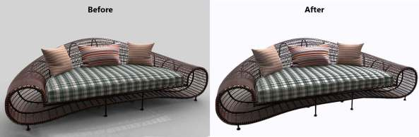 Furniture photography retouching services