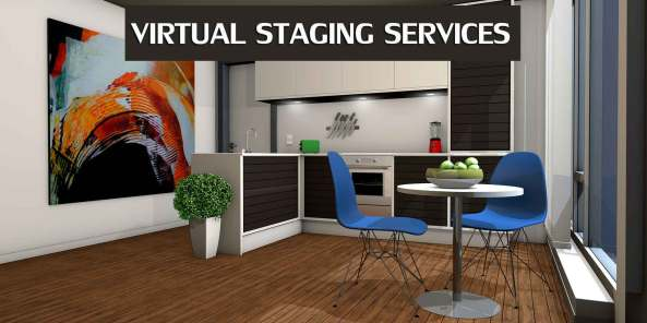 Virtual home staging services