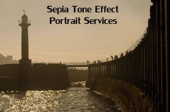 Sepia portrait enhancement services