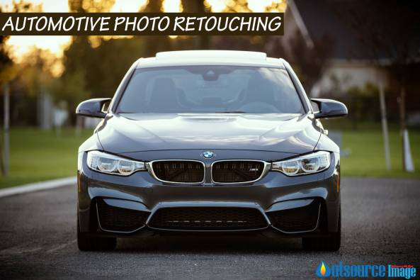 Vehicle product image retouching