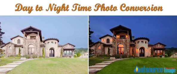 Day to night time photo conversion services