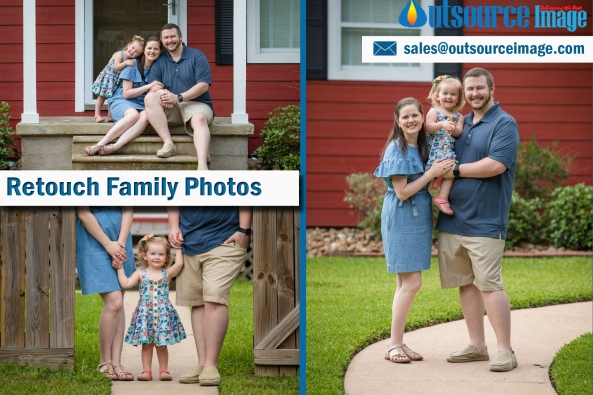 family photo retouching services