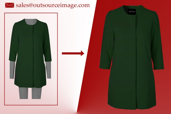 Ghost mannequin photo editing for clothing products