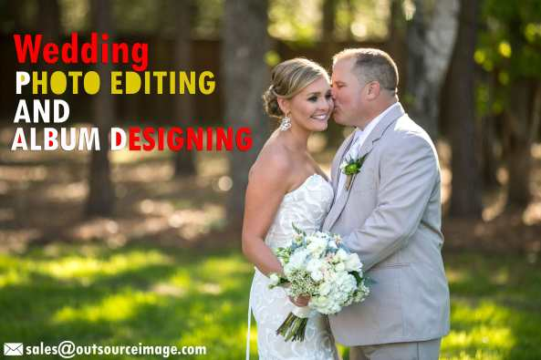 Wedding photography retouching services