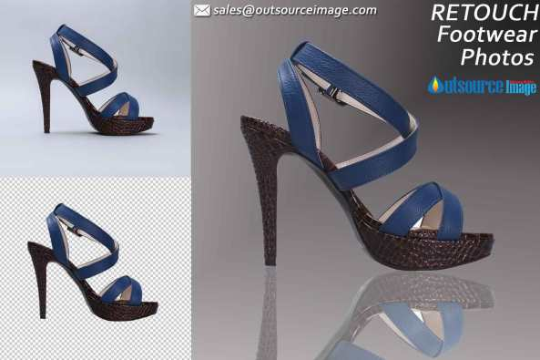 Photo Editing Services for footwear products