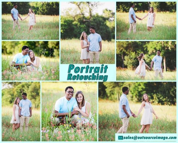 Portrait photo retouching services