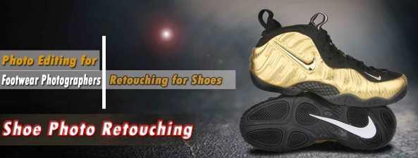 Shoe photo retouching services