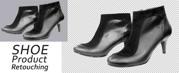 Shoe photography retouching services
